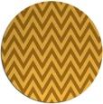rug #416825 | round yellow retro rug