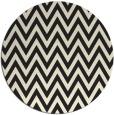 rug #416829   round black stripes rug