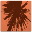 rug #417425 | square red-orange abstract rug