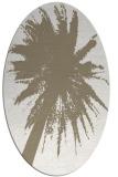 rug #417577 | oval beige natural rug