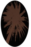 rug #417593   oval brown graphic rug