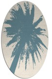 rug #417601 | oval white graphic rug