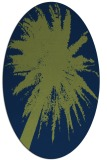 rug #417613 | oval blue graphic rug