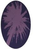 rug #417673 | oval purple graphic rug