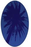 rug #417681   oval blue-violet graphic rug