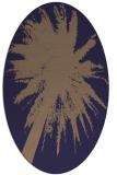 rug #417685 | oval blue-violet graphic rug