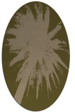 rug #417697 | oval brown graphic rug