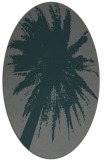 rug #417705 | oval blue-green abstract rug