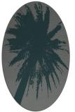rug #417705 | oval blue-green natural rug