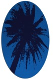 rug #417745 | oval blue graphic rug