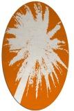 rug #417769 | oval orange graphic rug