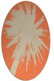 rug #417773   oval orange graphic rug
