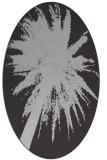 rug #417777 | oval red-orange graphic rug