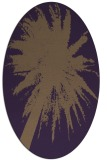 rug #417809 | oval purple abstract rug