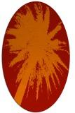 rug #417821   oval orange abstract rug