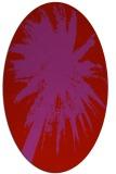 rug #417829 | oval red rug