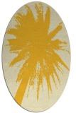 rug #417865 | oval yellow graphic rug