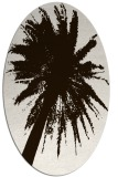 rug #417873 | oval brown graphic rug