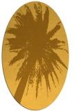 rug #417881 | oval light-orange graphic rug