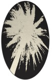 rug #417885 | oval black graphic rug