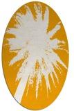 rug #417913   oval light-orange abstract rug