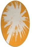 rug #417925 | oval light-orange abstract rug