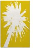 rug #418229 |  yellow abstract rug