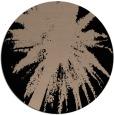 rug #418293 | round black natural rug