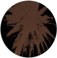rug #418297   round brown abstract rug