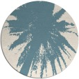 rug #418305 | round blue-green abstract rug