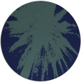 rug #418313 | round blue abstract rug