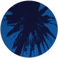 rug #418449 | round blue abstract rug