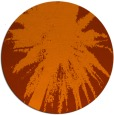 rug #418537 | round red-orange abstract rug