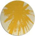 rug #418569 | round yellow graphic rug