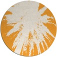 rug #418629 | round light-orange graphic rug