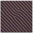 rug #419217 | square mid-brown stripes rug