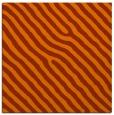 rug #419241 | square red-orange stripes rug