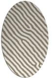 rug #419337 | oval beige animal rug