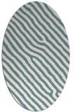 rug #419361 | oval white stripes rug