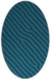 rug #419385 | oval blue-green rug