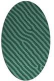 rug #419393 | oval blue-green rug