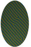 rug #419397 | oval green animal rug