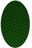 rug #419405   oval green animal rug