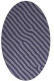 rug #419425 | oval blue-violet stripes rug