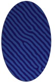 rug #419441 | oval blue-violet stripes rug