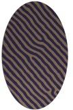 rug #419445 | oval blue-violet animal rug