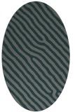 rug #419465   oval green animal rug