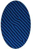rug #419505   oval blue stripes rug