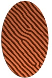 rug #419537 | oval red-orange stripes rug