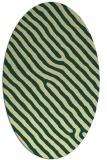 rug #419541 | oval yellow animal rug